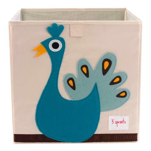 Image of 3 Sprouts opbevaringskasse - Påfugl