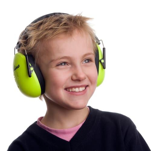 Image of A-Safety høreværn til børn - Neongrøn