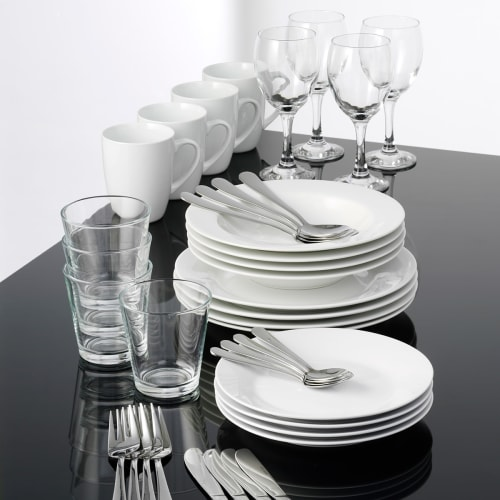 Image of   aida stel inkl. glas og bestik - Café