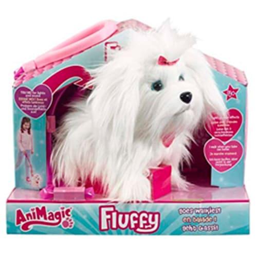 Image of Animagic interaktiv hundehvalp - Fluffy Goes Walkies