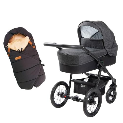 Babynor barnevogn Ydun & kørepose Frida - Coal