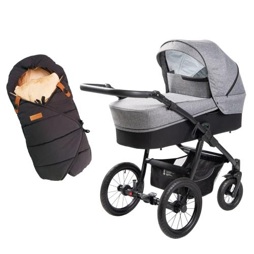 Image of Babynor barnevogn Ydun & kørepose Frida - Steel
