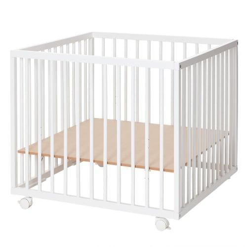 Image of Babynor kravlegård med hjul - Una - Hvid