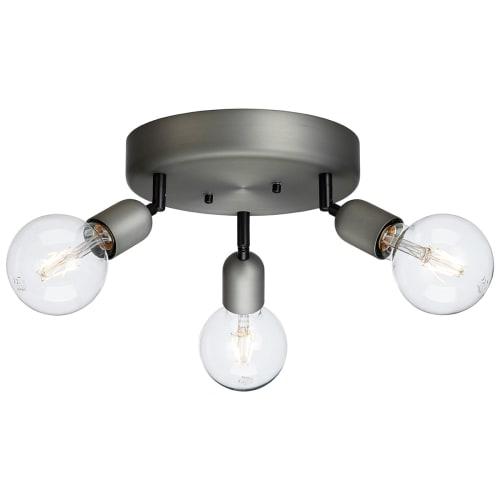Image of   Belid spotlampe rund m. 3 lamper - Regal - Grå