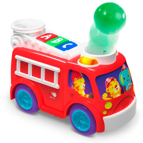 Image of   Bright Starts puttekasse - Roll & Pop Fire Truck