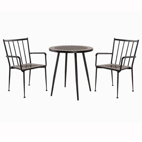 Billede af Coop cafésæt - Sort/hvid mosaik