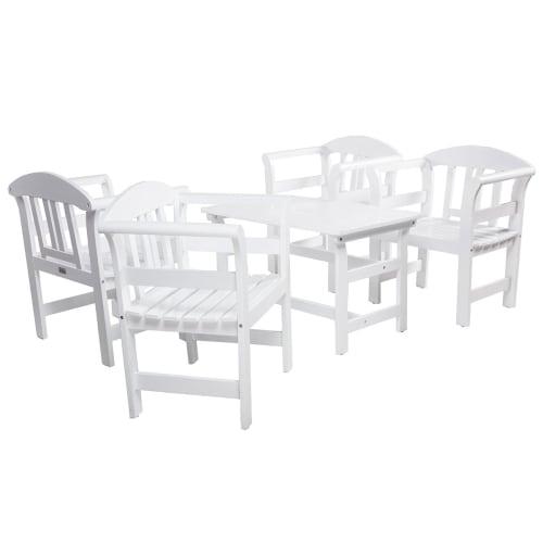 Coop loungesæt - Rosen - Hvid