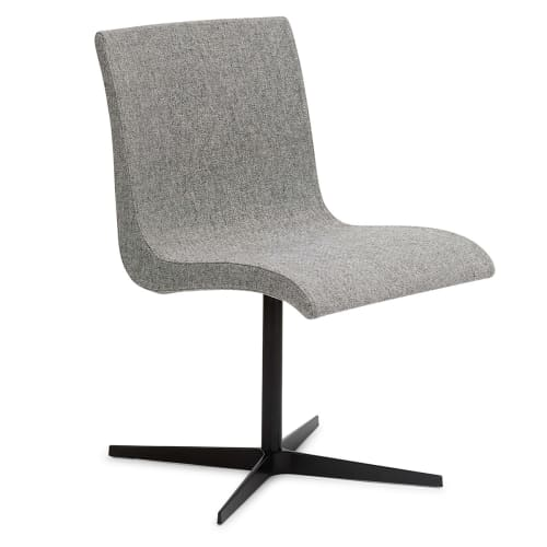 Image of   Erik Bagger stol - Curves Chair Two - Sort/lysegrå
