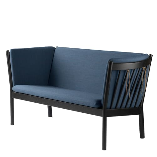 Erik Ole Jørgensen 2 pers. sofa - J148 - Sort/støvet blå