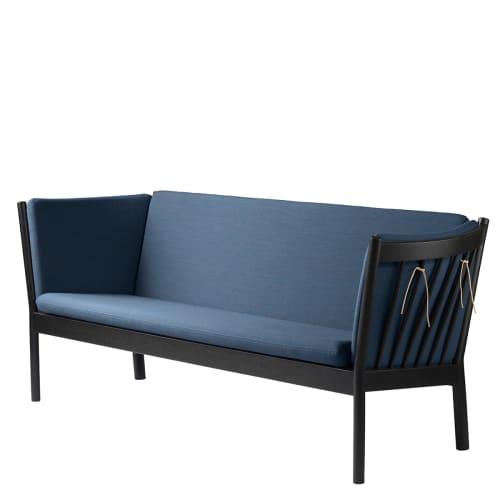 Erik Ole Jørgensen 3 pers. sofa - J149 - Sort/støvet blå
