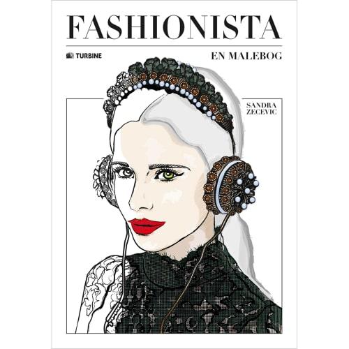 Image of   Fashionista - En malebog - Hæftet