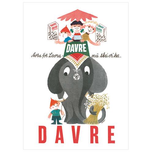 Image of   FDB Davregryn elefant plakat - 150 års jubilæumsudgave