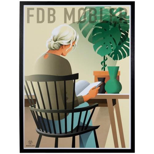 Image of   FDB Møbler plakat i ramme - T1 - af Niels Ditlev