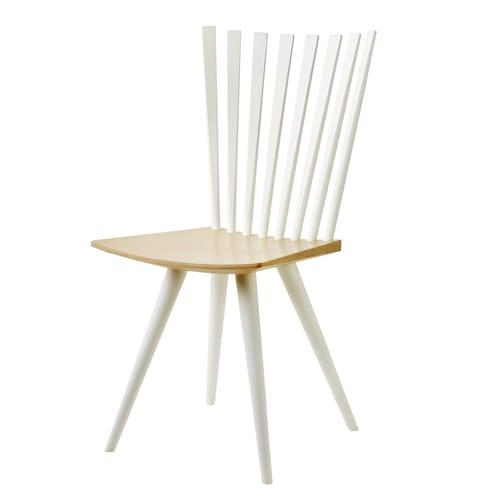 Image of   Foersom & Hiort-Lorenzen stol - Mikado J152 - Hvid/natur
