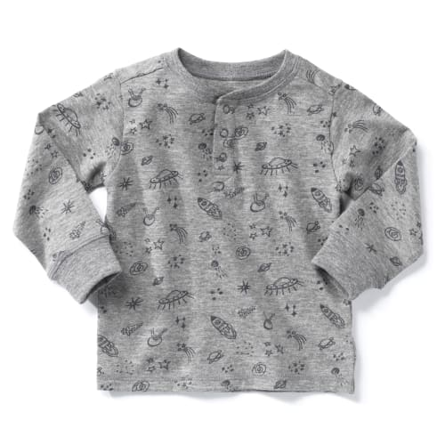 Friends langærmet t-shirt - Grå m. raketter