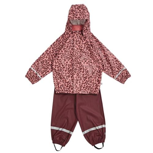 Friends regntøj - Rosa med leopardprint