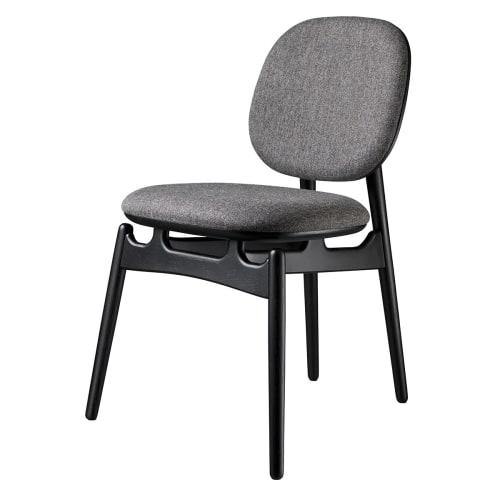 Image of   Hans-Christian Bauer stol - J161 PoSpiSto - Sort eg/gråt tekstil