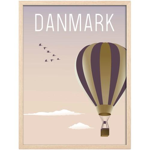 Image of   Hoei Denmark plakat i ramme - Luftballon