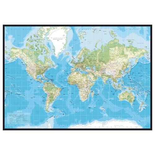Image of   Incado Pinboard verdenskort - Classic
