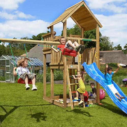 Image of   Jungle Gym Palace legetårn med gyngemodul