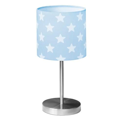 Kids Concept bordlampe - Star - Blå/hvid