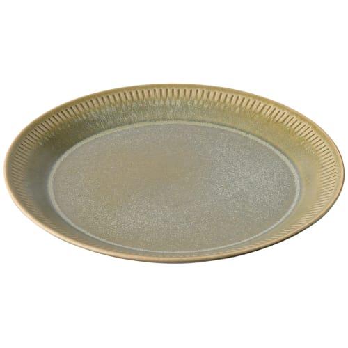 Image of   Knabstrup Keramik frokosttallerken - Olivengrøn