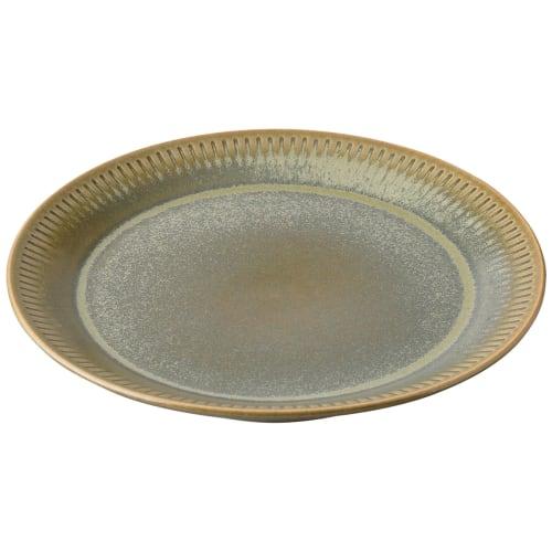Image of   Knabstrup Keramik kagetallerken - Olivengrøn