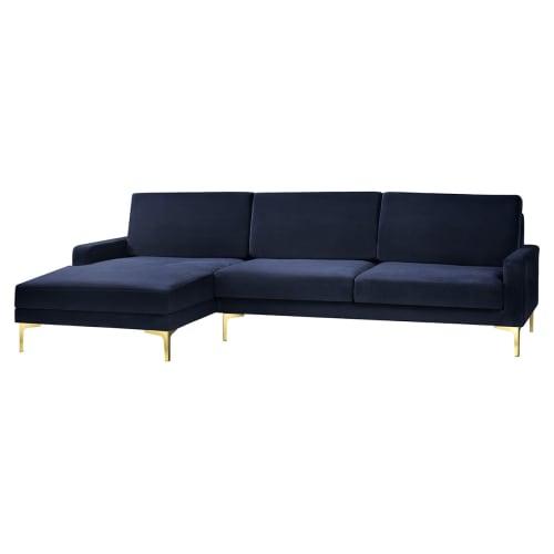 Image of   Living&more 3 pers. sofa med chaiselong - Viktoria - Mørkeblå