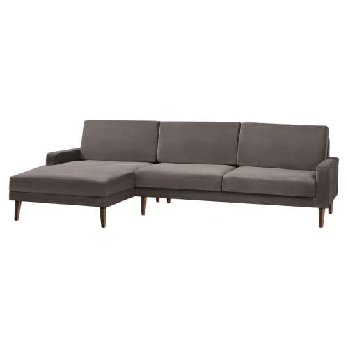 Living&more 3 pers. sofa med chaiselong - Viktoria - Mushroom