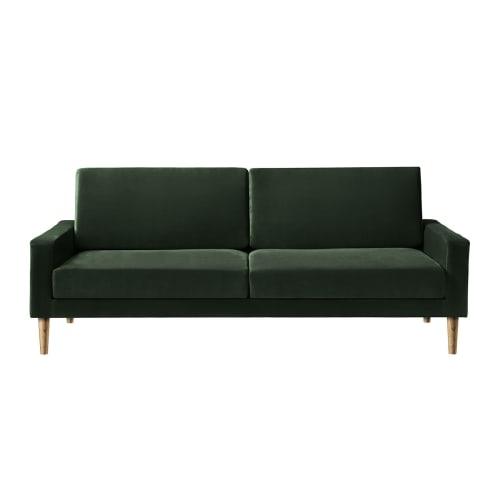 Image of   Living&more 3 pers. sofa - Viktoria - Mørkegrøn