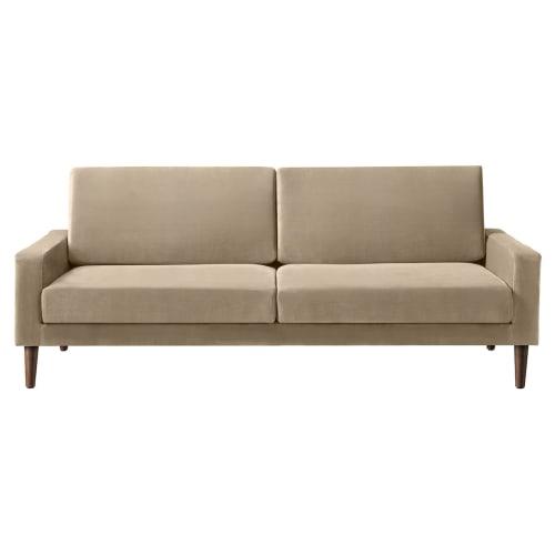 Image of   Living&more 3 pers. sofa - Viktoria - Sand