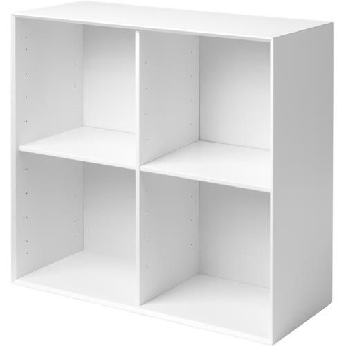 Living&more reol - The Box - 71,2 x 76,4 x 34,0 cm - Hvid