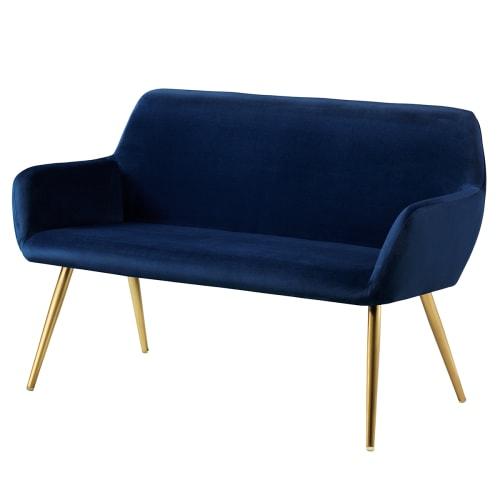 Image of   Living&more sofa - Emma - Mørkeblå