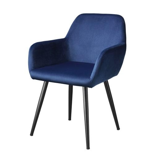 Image of   Living&more spisebordsstol - Emma - Mørkeblå