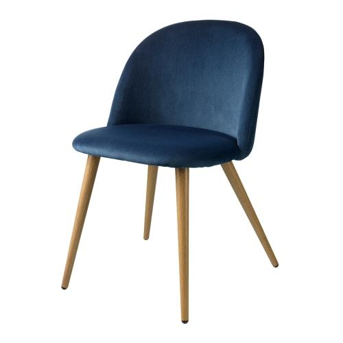 Image of   Living&more spisebordsstol - Laura - Mørkeblå