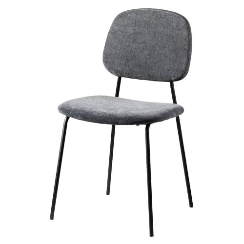 Image of   Living&more spisebordsstol - Retro - Mørkegrå
