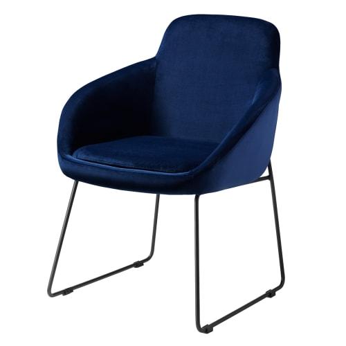 Image of   Living&more spisebordsstol - Vilma - Mørkeblå