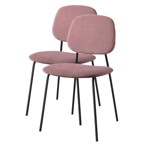 Living&more spisebordsstole - Retro - 2 stk. - Lilla