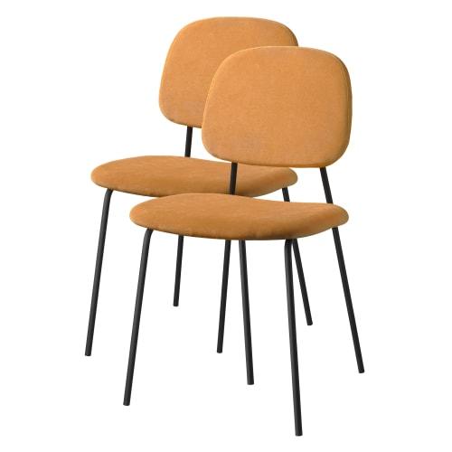 Living&more spisebordsstole - Retro - 2 stk. - Sorbet gul
