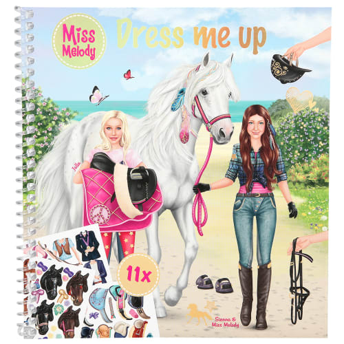 Image of   Miss Melody klistermærkebog - Dress me up