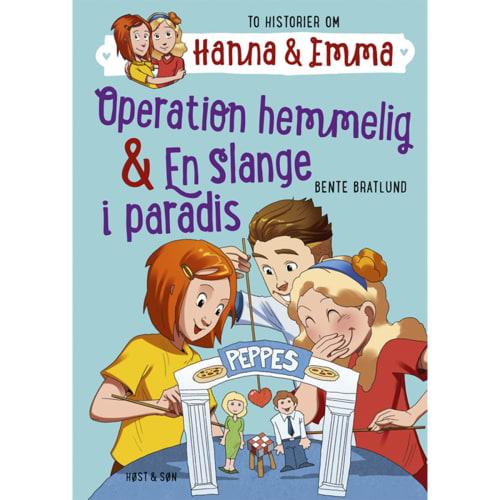 Operation hemmelig & En slange i paradis - Hanna & Emma 2 - Indbundet