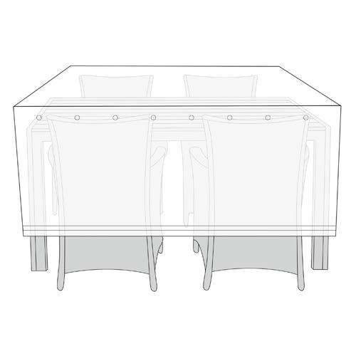 Billede af Overtræk til havemøbelsæt - Antracit
