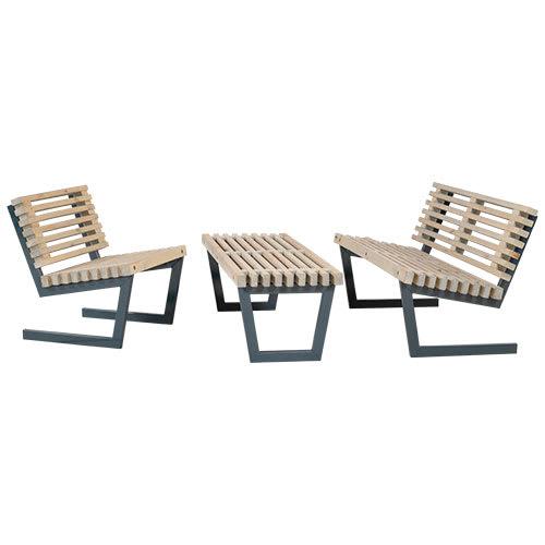 Plus Loungesæt Med Sofa, Stol Og Stort Bord - Siesta - Drivtømmer-Look
