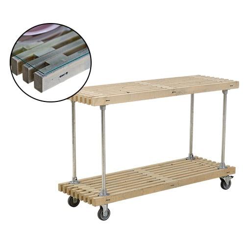 Plus Tralle Grill- Og Anretterbord Med Hjul - Drivtømmerfarvet