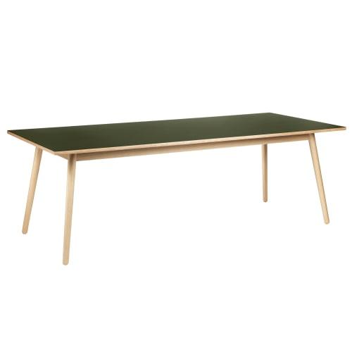 Poul M. Volther 8 pers. spisebord - C35C - Eg/oliven linoleum