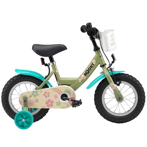 """Rocky Lucca 12"""" pigecykel - Mørkegrøn"""