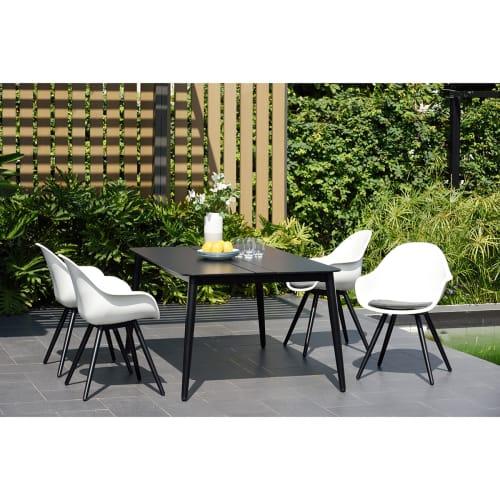 ScanCom havemøbelsæt inkl. hynder - Solaima M - Sort/hvid
