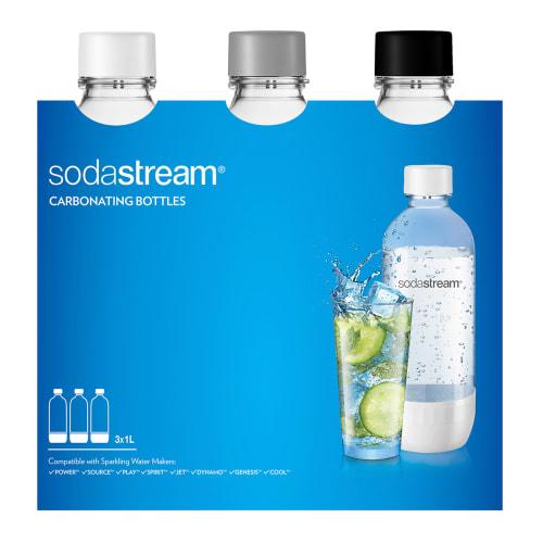 Sodastream flasker - PET - 3 x 1 liter