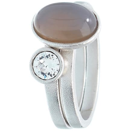 Image of   Spinning Jewelry ring - Big Moon - Rhodineret sterlingsølv