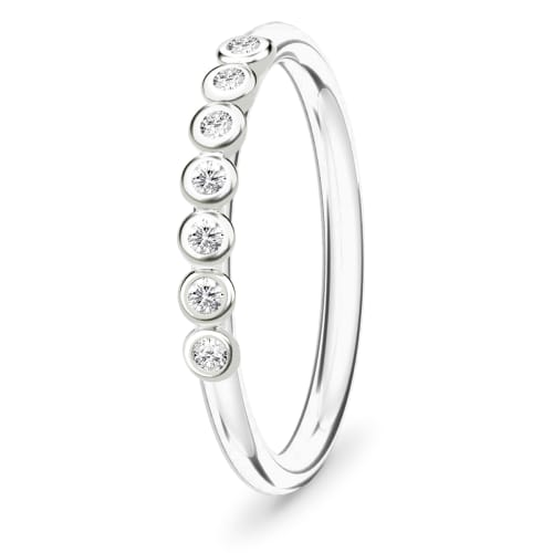 Image of   Spinning Jewelry ring - Sensation - Rhodineret sterlingsølv